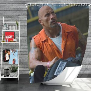 The Fate of The Furious Movie Dwayne Johnson Luke Hobbs Shower Curtain