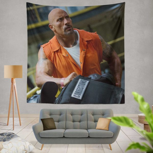 The Fate of The Furious Movie Dwayne Johnson Luke Hobbs Wall Hanging Tapestry