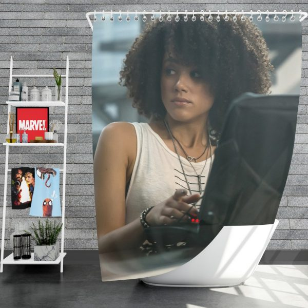 The Fate of The Furious Movie Nathalie Emmanuel Ramsey Shower Curtain
