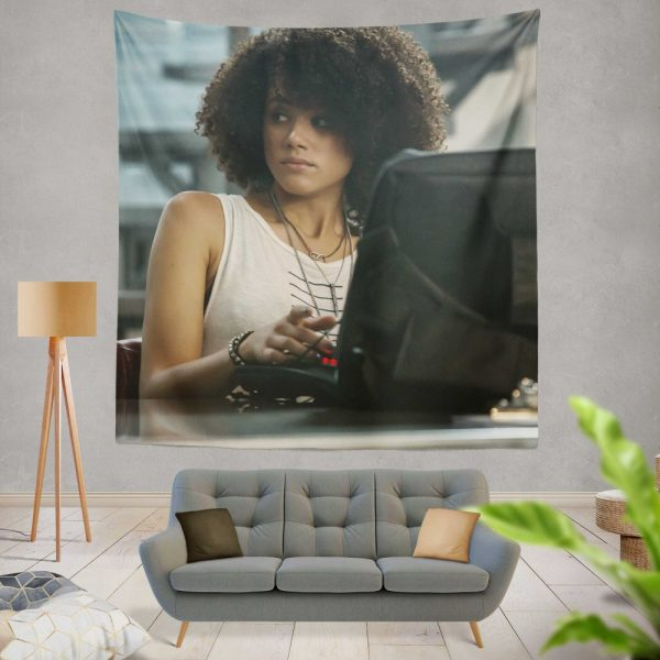 The Fate of The Furious Movie Nathalie Emmanuel Ramsey Wall Hanging Tapestry
