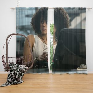 The Fate of The Furious Movie Nathalie Emmanuel Ramsey Window Curtain
