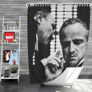 The Godfather Movie Marlon Brando Shower Curtain