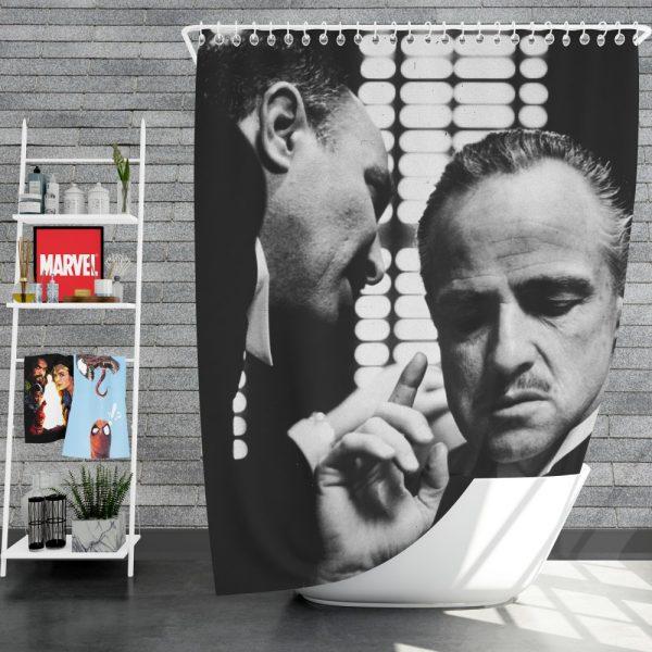 The Godfather Movie Marlon Brando Shower Curtain
