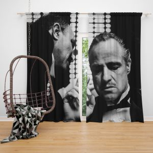 The Godfather Movie Marlon Brando Window Curtain