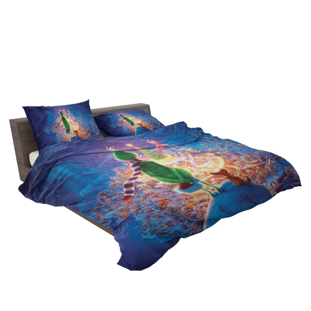 Christmas Bedding.The Grinch Movie Christmas Bedding Set Ebeddingsets