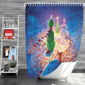 The Grinch Movie Christmas Shower Curtain