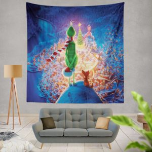 The Grinch Movie Christmas Wall Hanging Tapestry