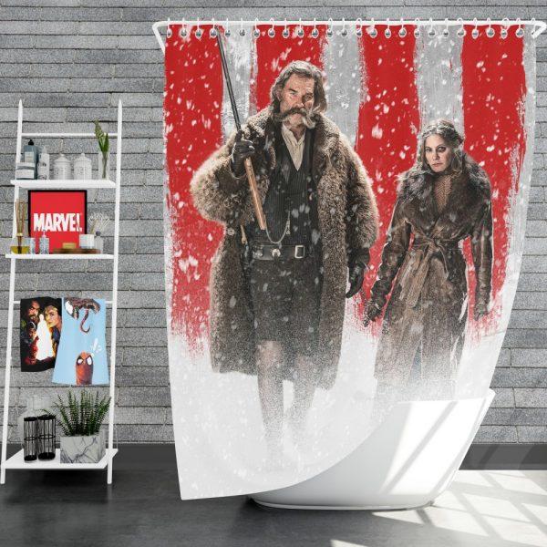 The Hateful Eight Movie Jennifer Jason Leigh Kurt Russell Shower Curtain