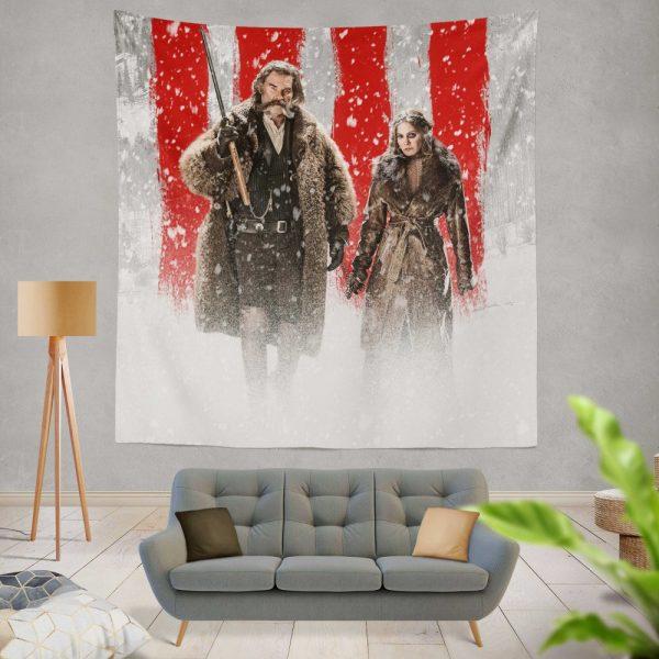 The Hateful Eight Movie Jennifer Jason Leigh Kurt Russell Wall Hanging Tapestry