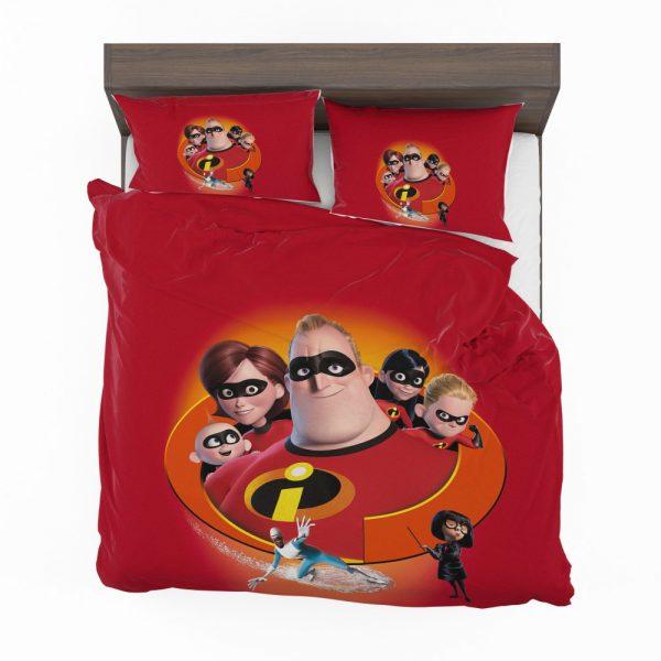 The Incredibles Movie Bob Parr Dash Parr Disney Elastigirl Helen Parr Bedding Set 2