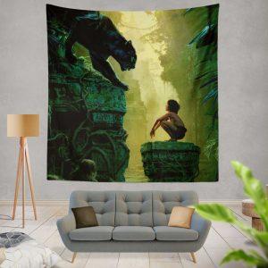 The Jungle Book 2016 Movie Bagheera Mowgli Wall Hanging Tapestry