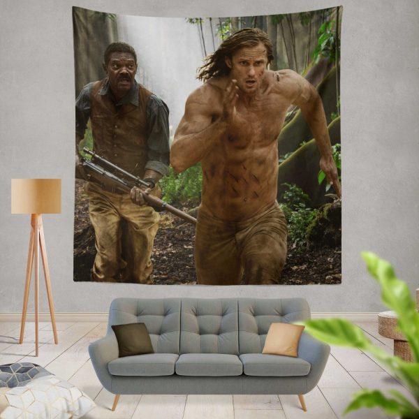 The Legend of Tarzan Movie Alexander Skarsgård Samuel L Jackson Wall Hanging Tapestry