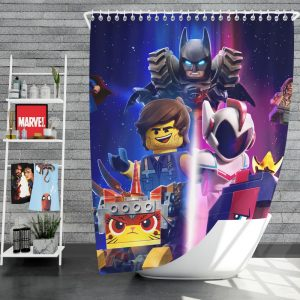 The Lego Movie 2 The Second Part Movie Aquaman Batman Superman Shower Curtain