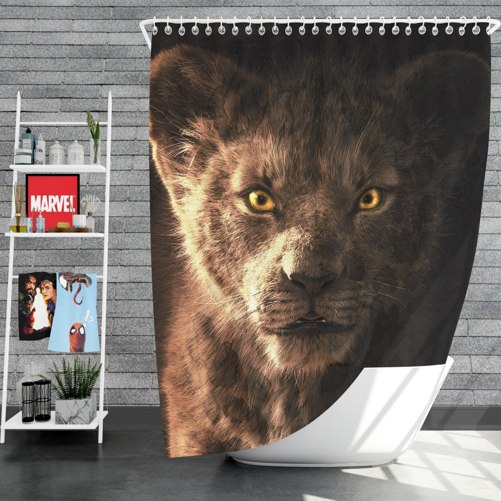 The Lion King 2019 Movie Simba Kids Shower Curtain