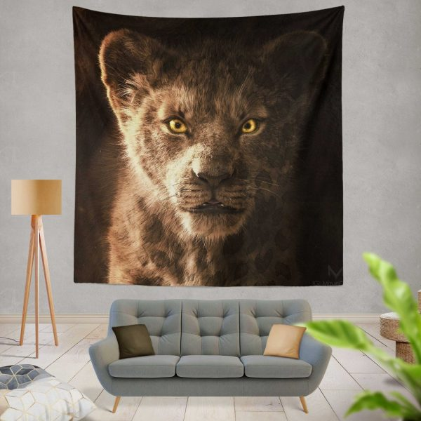 The Lion King 2019 Movie Simba Kids Wall Hanging Tapestry