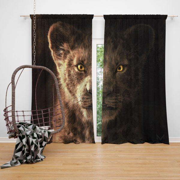 The Lion King 2019 Movie Simba Kids Window Curtain