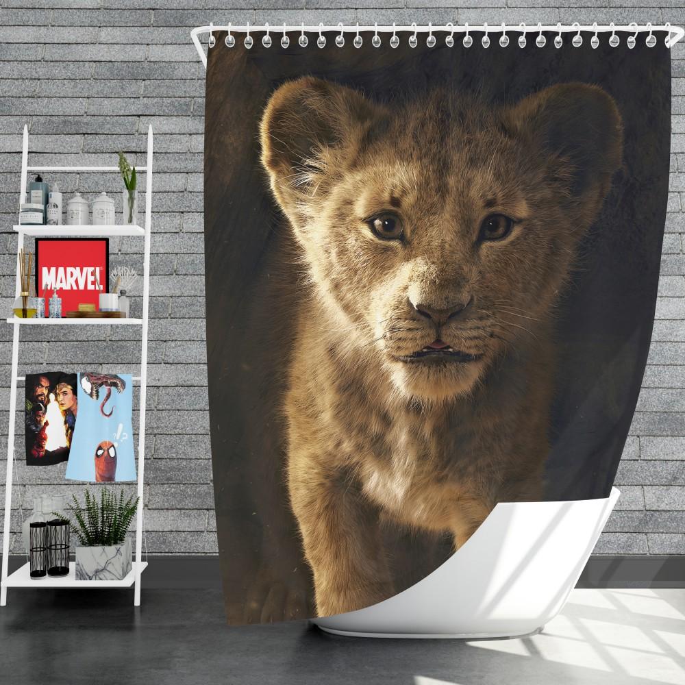 The Lion King 2019 Movie Simba Shower Curtain Ebeddingsets