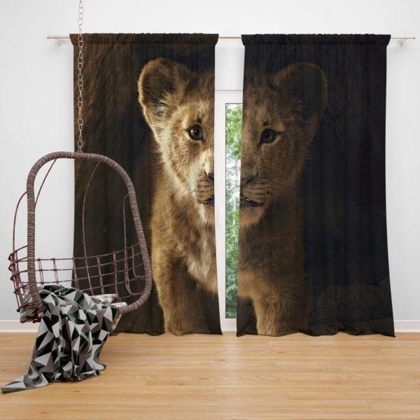 The Lion King 2019 Movie Simba Window Curtain