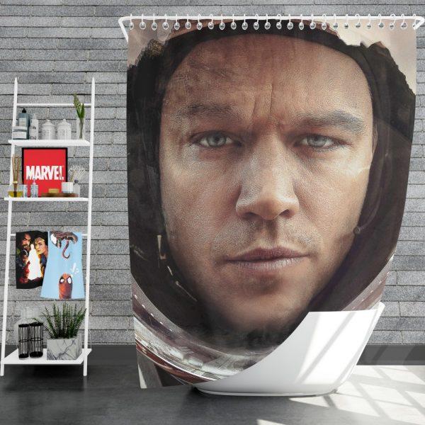 The Martian Movie Matt Damon Shower Curtain