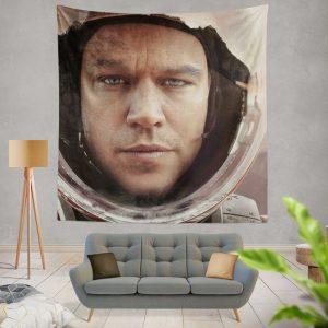 The Martian Movie Matt Damon Wall Hanging Tapestry