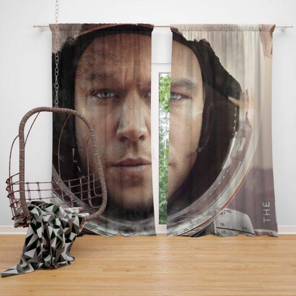 The Martian Movie Matt Damon Window Curtain