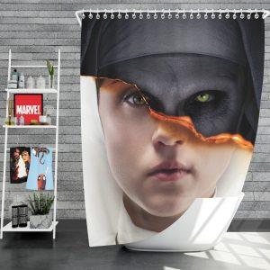 The Nun Movie Evil Girl Shower Curtain