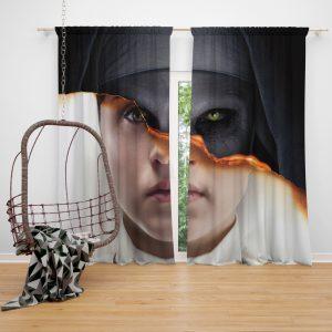 The Nun Movie Evil Girl Window Curtain