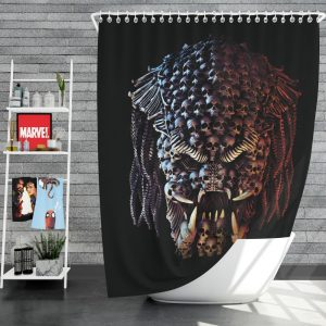 The Predator Movie Alien Sci Fi Skull Shower Curtain