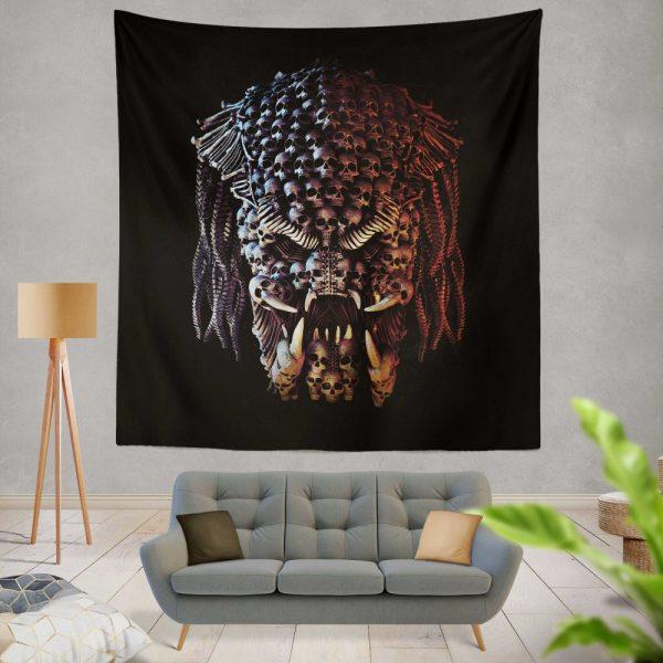 The Predator Movie Alien Sci Fi Skull Wall Hanging Tapestry