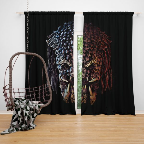 The Predator Movie Alien Sci Fi Skull Window Curtain