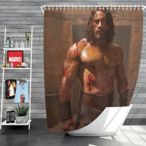 The Rock in Hercules Movie 2014 Shower Curtain
