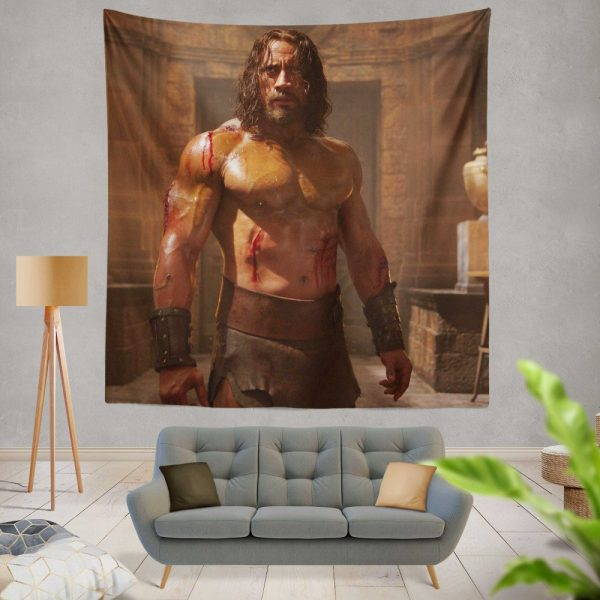The Rock in Hercules Movie 2014 Wall Hanging Tapestry