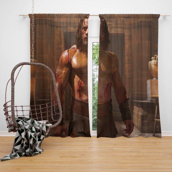 The Rock in Hercules Movie 2014 Window Curtain