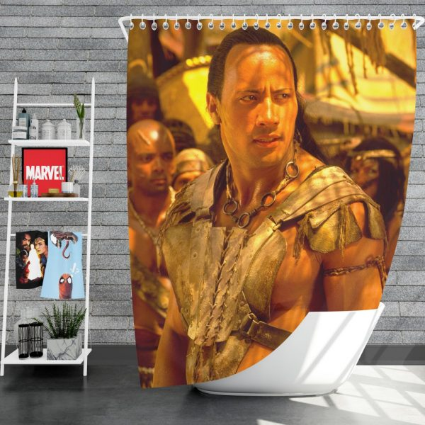 The Scorpion King Movie Dwayne Johnson Shower Curtain