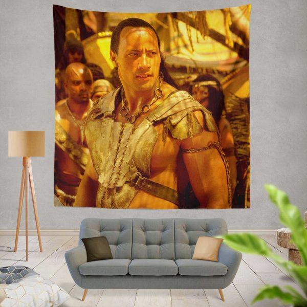 The Scorpion King Movie Dwayne Johnson Wall Hanging Tapestry