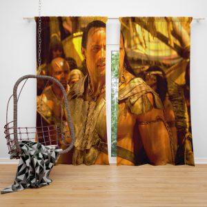 The Scorpion King Movie Dwayne Johnson Window Curtain