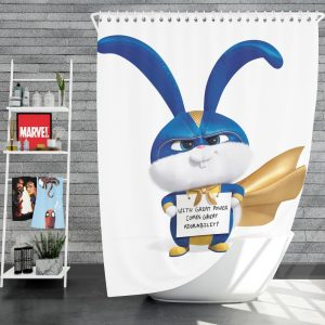 The Secret Life of Pets 2 Movie Snowball Shower Curtain