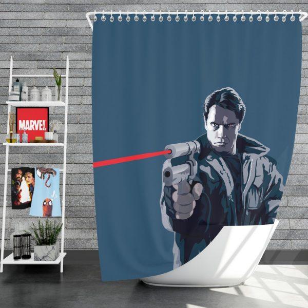 The Terminator Movie Shower Curtain