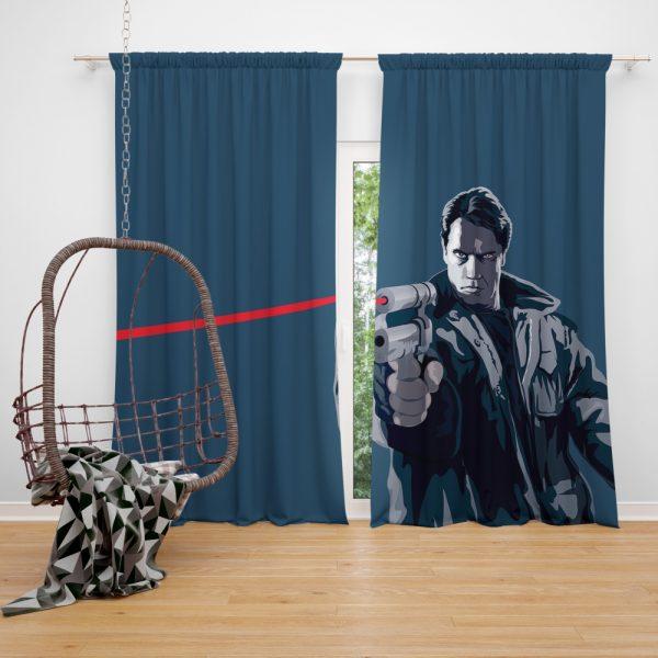The Terminator Movie Window Curtain