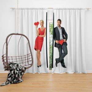 The Ugly Truth Movie Gerard Butler Katherine Heigl Window Curtain