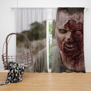 The Walking Deceased Movie Window Curtain