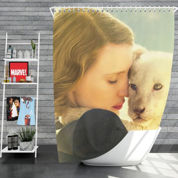 The Zookeeper's Wife Movie Jessica Chastain Shower Curtain