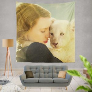 The Zookeeper's Wife Movie Jessica Chastain Wall Hanging Tapestry
