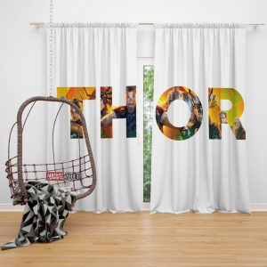 Thor Ragnarok Movie Window Curtain
