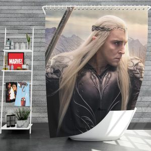 Thranduil Elvenking in The Hobbit Battle of the Five Armies Movie Shower Curtain