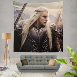 Thranduil Elvenking in The Hobbit Battle of the Five Armies Movie Wall Hanging Tapestry