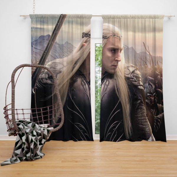 Thranduil Elvenking in The Hobbit Battle of the Five Armies Movie Window Curtain