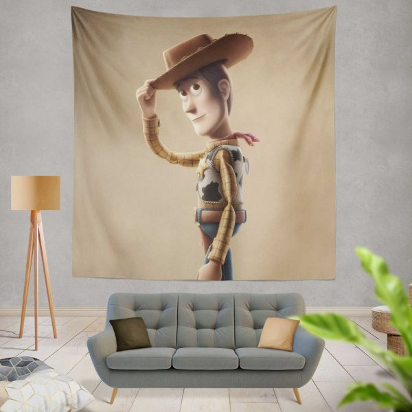 Toy Story 4 Movie Woody Wall Hanging Tapestry