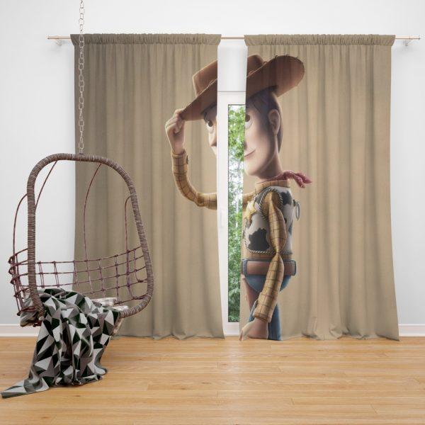 Toy Story 4 Movie Woody Window Curtain