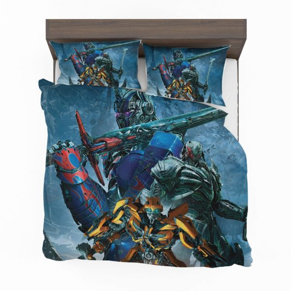Transformers The Last Knight Movie Bumblebee Megatron Optimus Prime Bedding Set 2